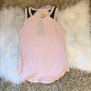 Pink and grey tank top